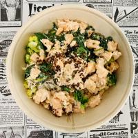 Plat (poisson) : tagliatelle de saumon et petits légumes